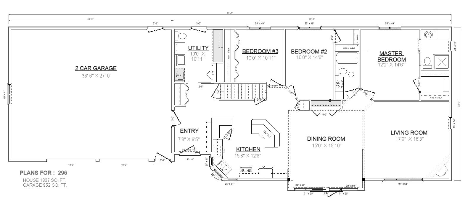 Penner homes floor plan id 296