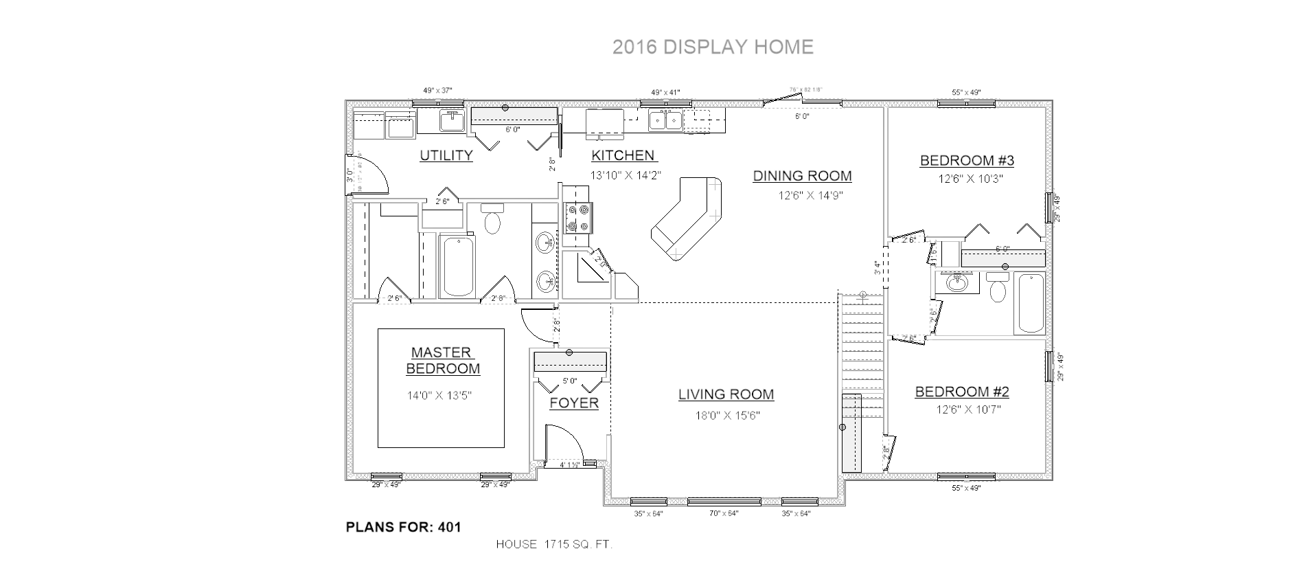 Penner Homes Floor Plan Id: 401